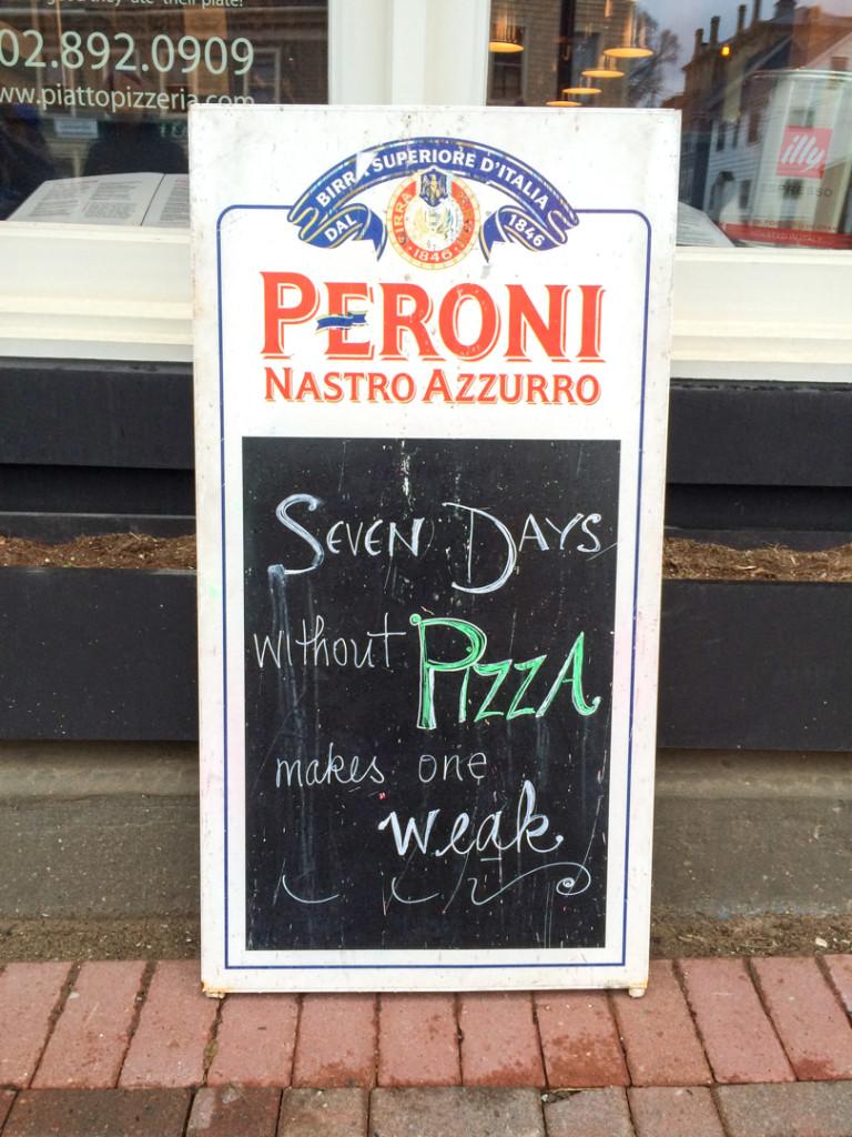 Affiche de blague Pizza