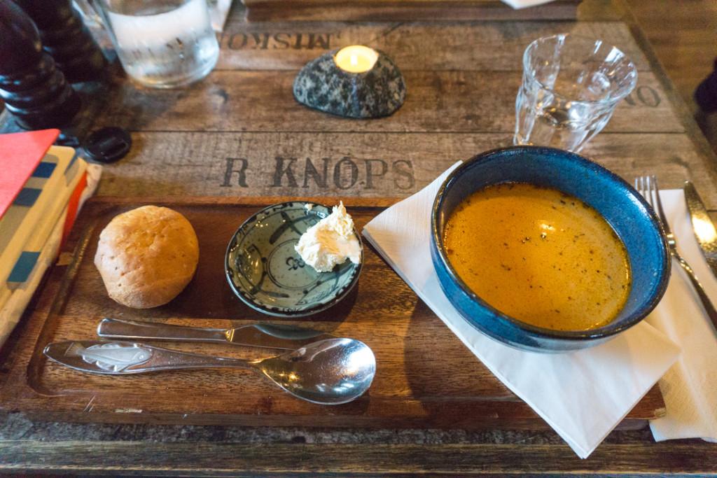 Budget nourriture - Islande - soupe de langoustines