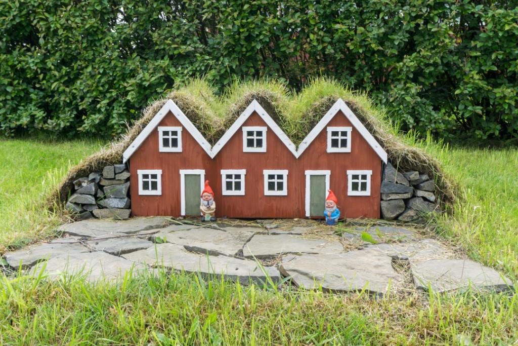 Petites maisons delfes - Sud-est Islande