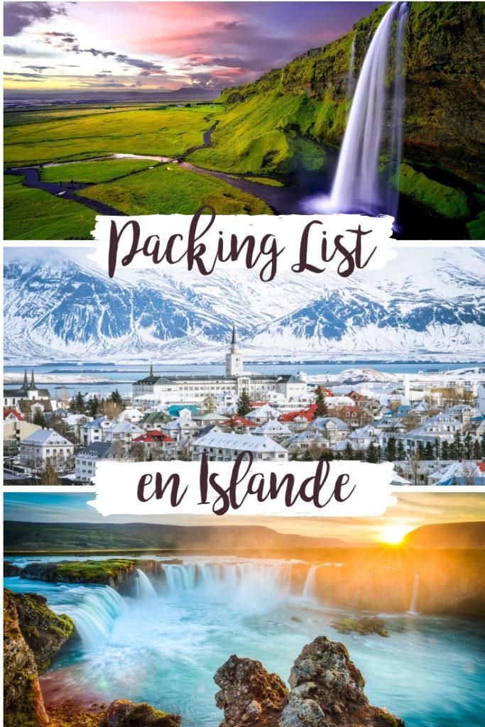 Packing liste - Faire ses bagages pour l'Islande