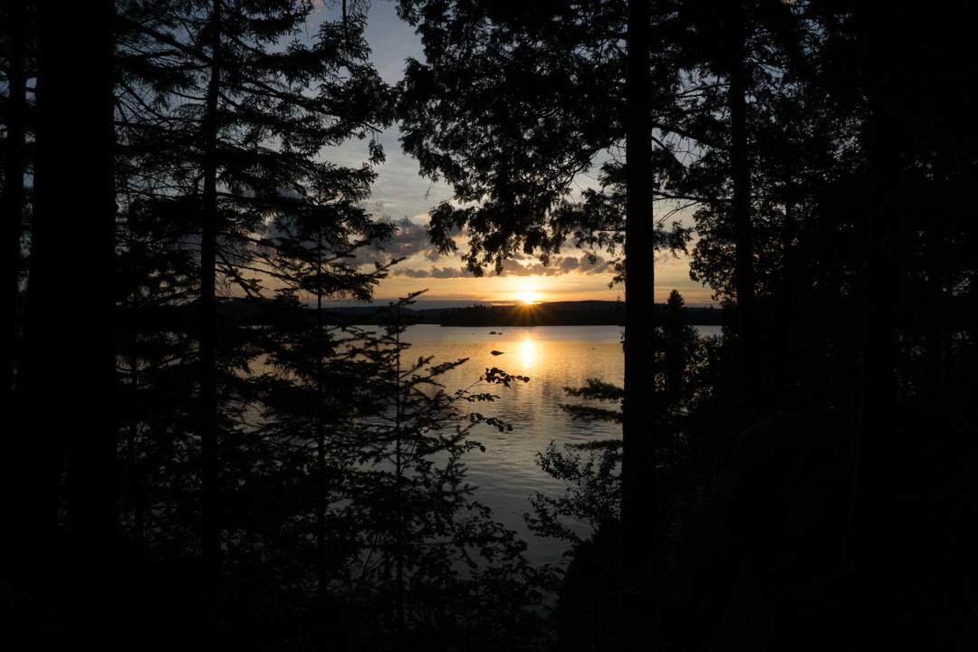 Coucher de soleil - Parc national de Frontenac
