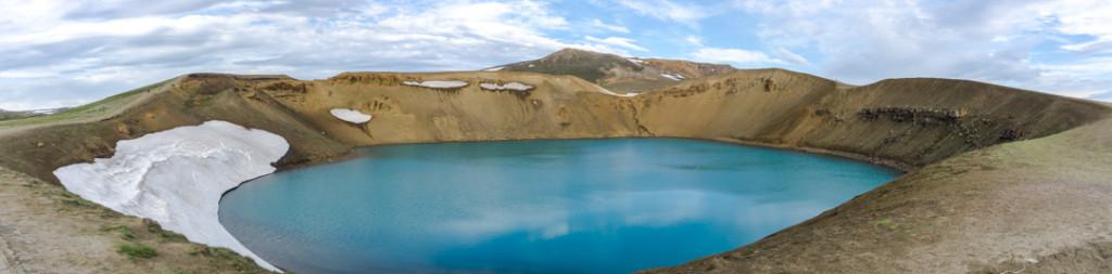 Cratère de Viti au nord de la route 1 d'Islande