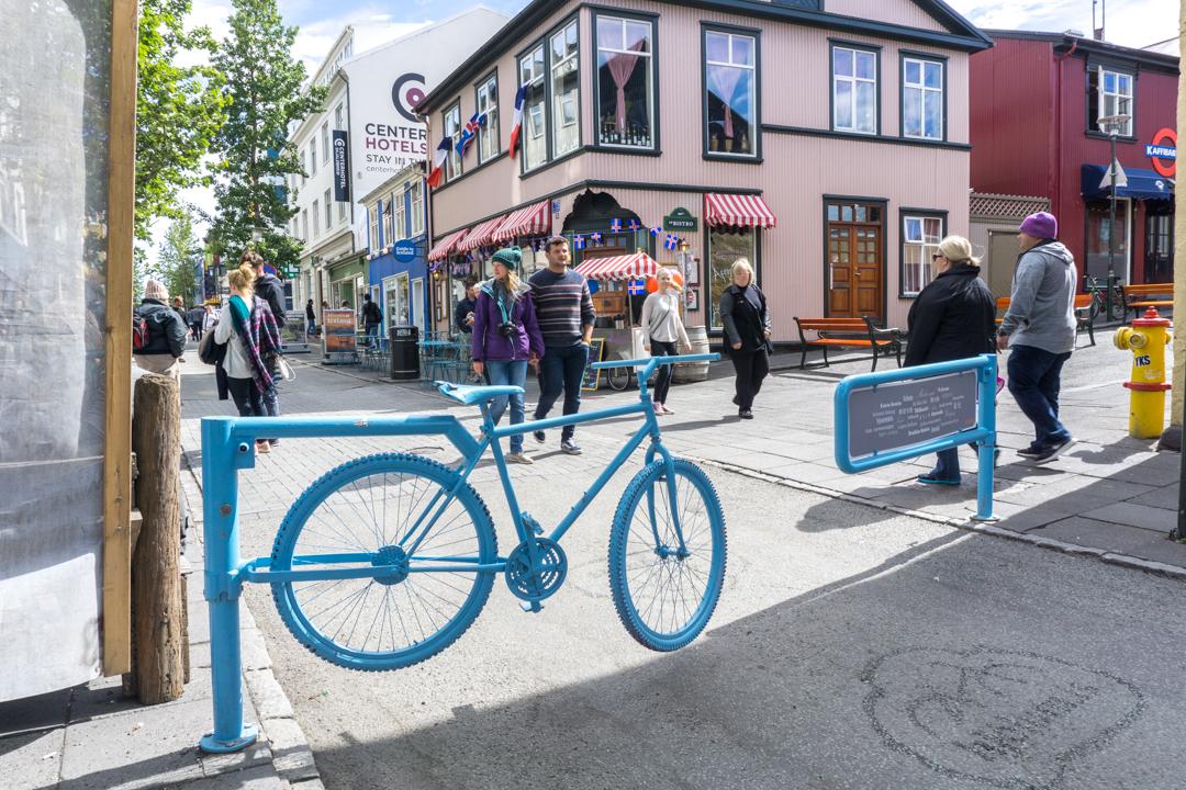 Reykjavík - Les clôtures en forme de vélo