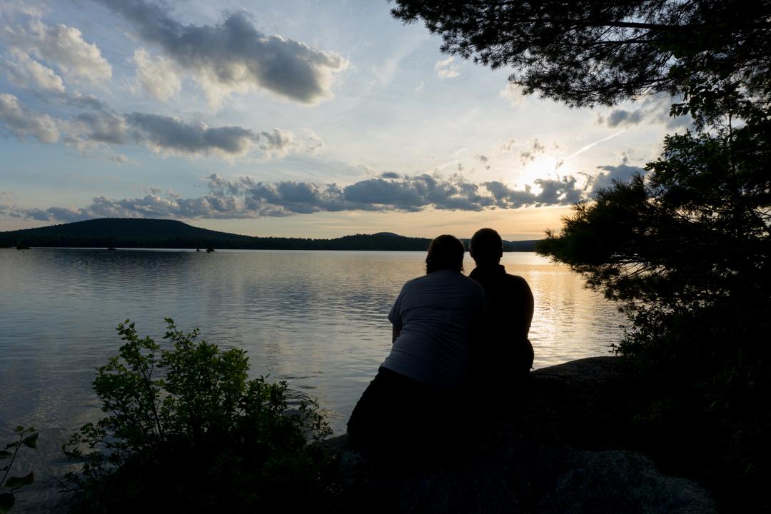 Week-end en amoureux au coucher de soleil