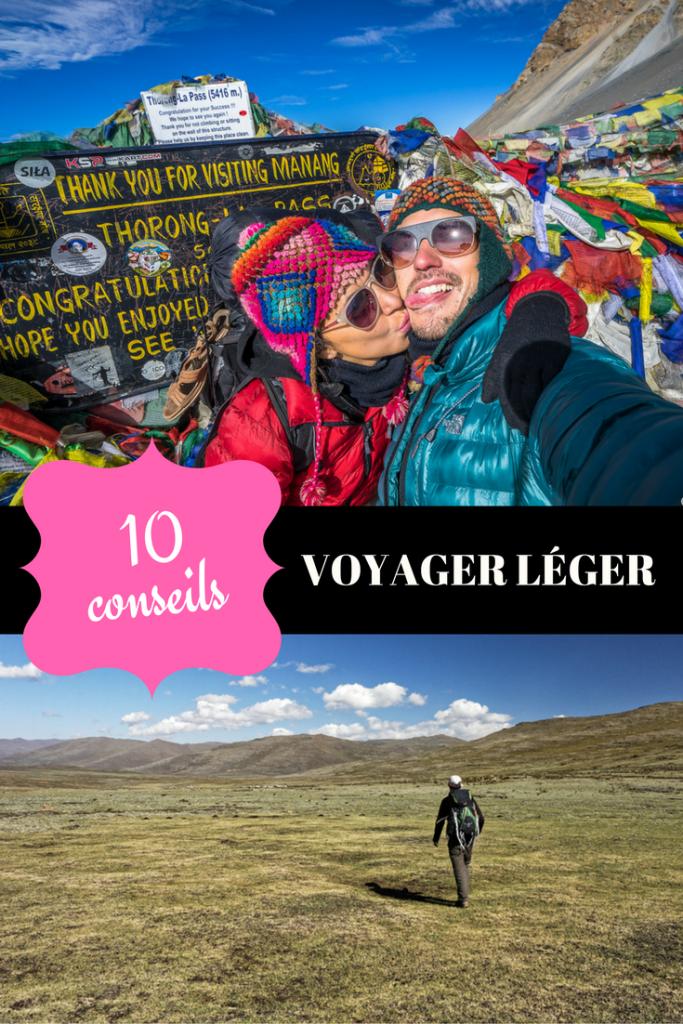 10 conseils pour voyager léger de blogueurs voyage