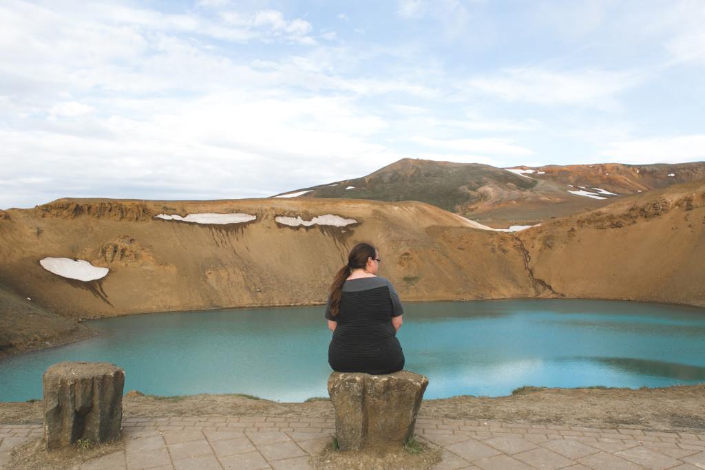 Cratère de Viti en voyage en Islande