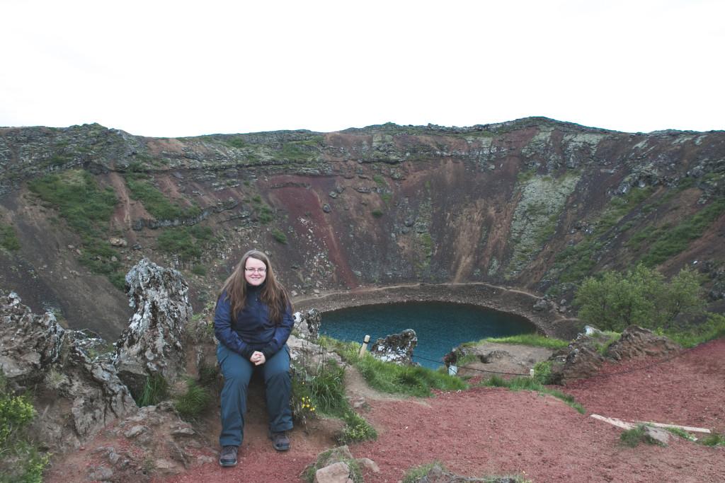 Cratère de Kerid au Cercle d'Or en Islande