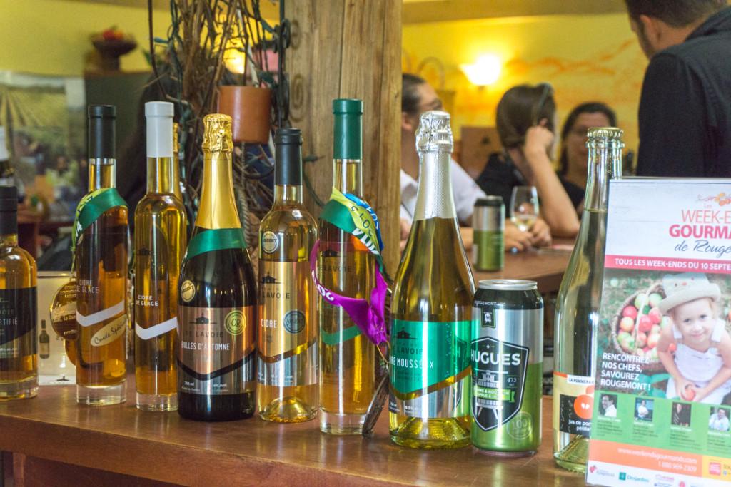 Cidres, vins, mousseux et autres boissons du Québec au Domaine De Lavoie