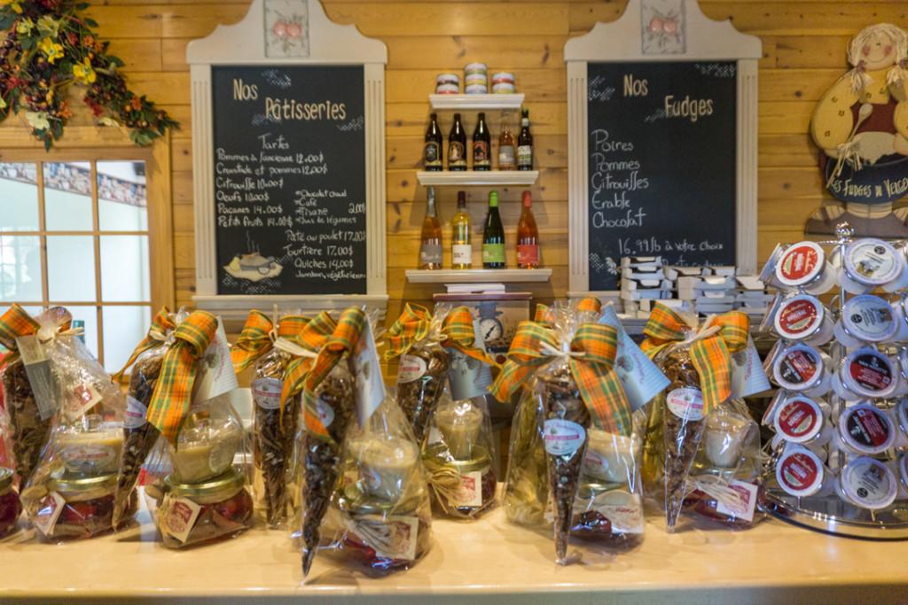 Plein de produits du terroir disponibles à la boutique du Verger Champêtre