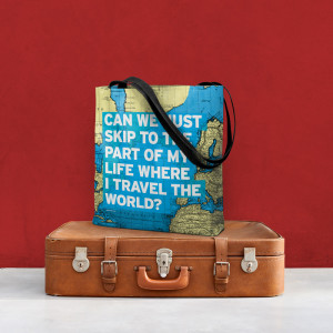 Sac en carte du monde - Airportag - Cadeaux pour voyageur