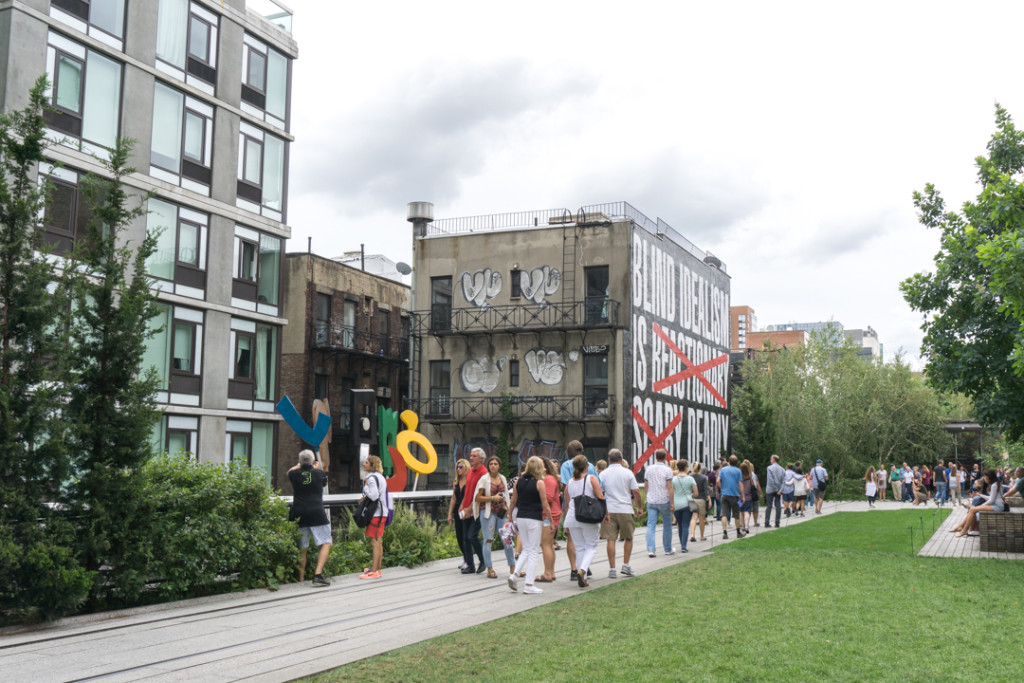 Art public sur le Highline