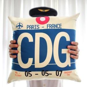 coussin aéroport CDG Paris France