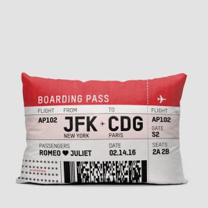 Coussin carte d'embarquement JFK -CDG