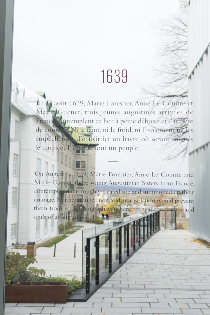 Entrée du Monastère des Augustines de Québec