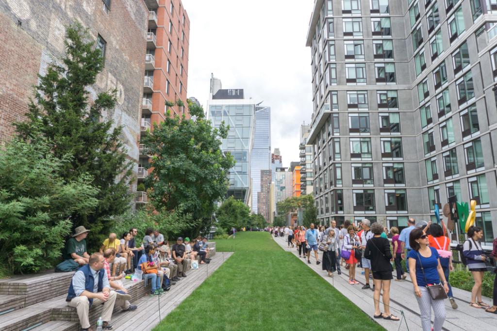 Espace vert de la Highline de New York