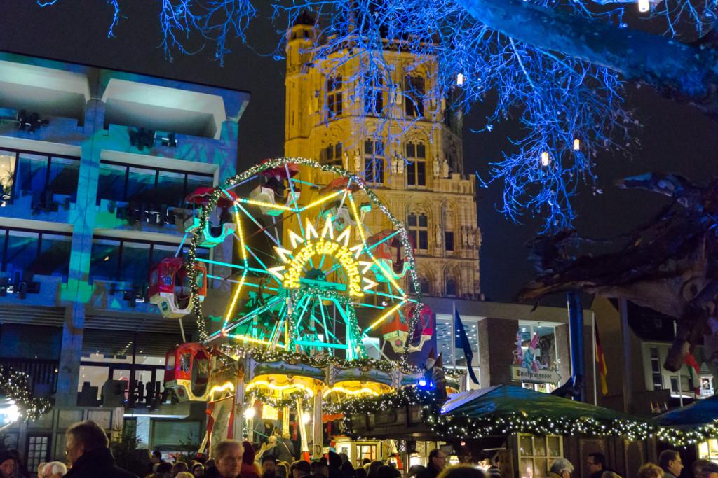 Grande roue du Heumarkt, patinoire et marché de Noël allemand, Cologne