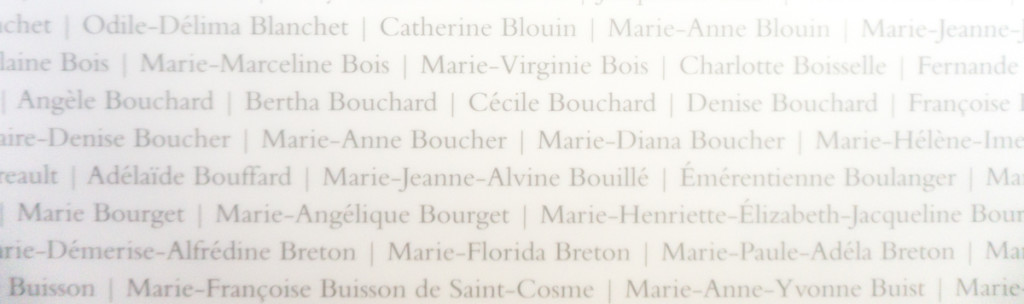 List de noms des Augustines