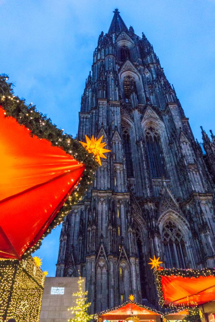Marché de Noël - Dom de Cologne, Allemagne