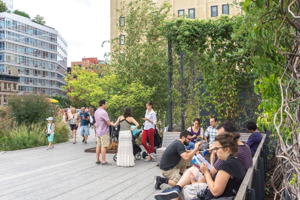 Pause détente sur la highline en voyage à New York