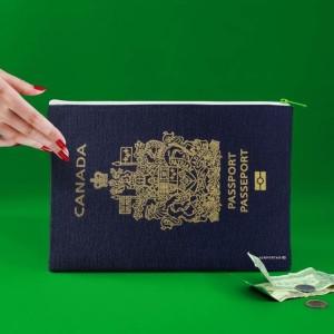 Pochette passeport canadien