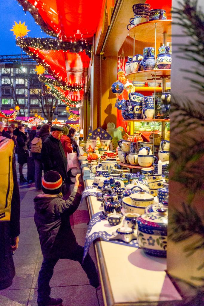 Potier au marché de Noël de Cologne