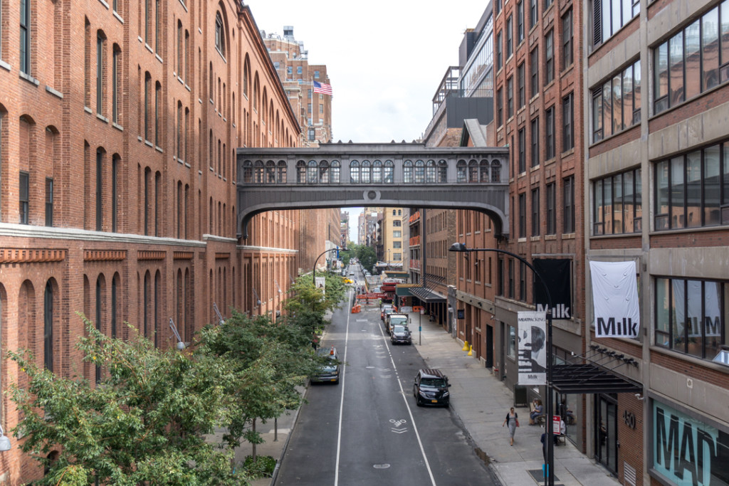 Vue à partir de la highline de New York