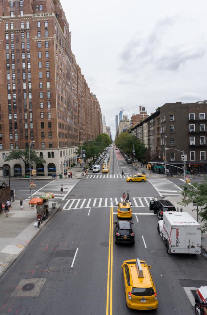 Vue de la Highline de NYC