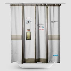 rideau de douche airplane lavatory