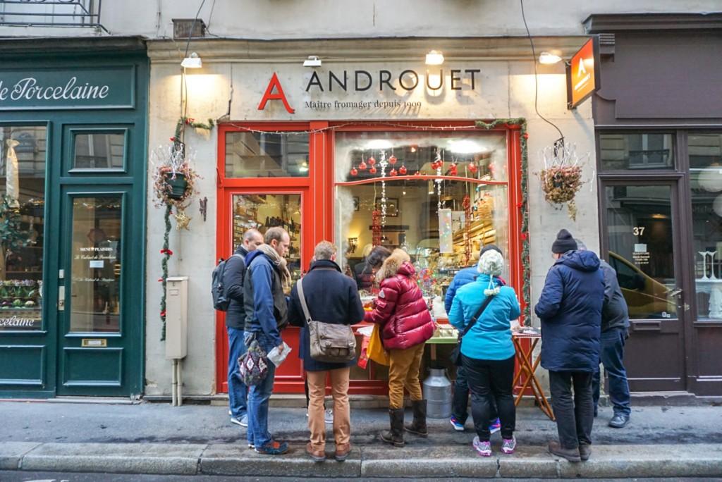 Façade d'Androuet fromager Paris