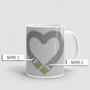 Mug cœur personnalisable