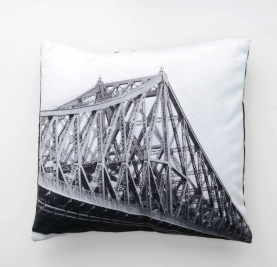 housse de Coussin en velours Pont Jacques-Cartier