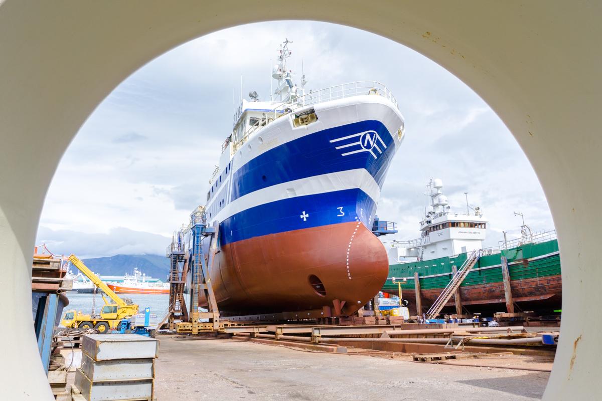 Bateau au port de Reykjavik
