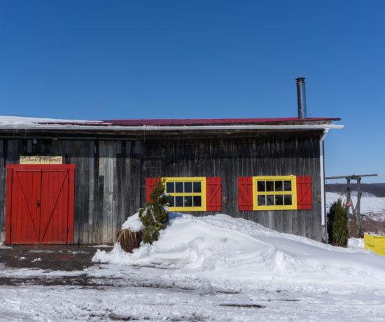 Cabane à pommes, extérieur