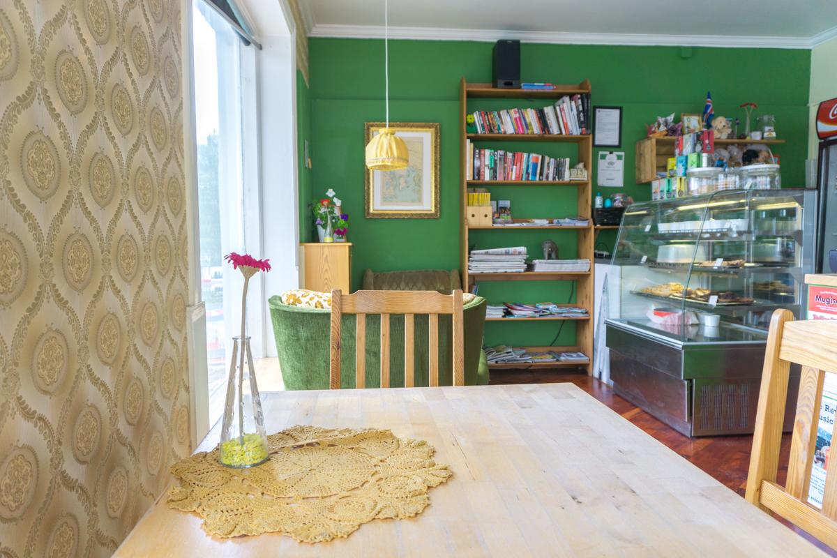 À l'intérieur du café C is for Cookie de Reykajvik