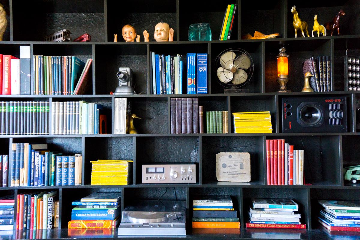 Kex Hostel - bibliothèque pleine de livres