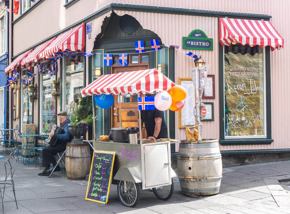 Rue Laugavegur de Reykjavik