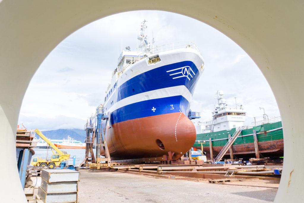 Bateaux au port de Reykajvik