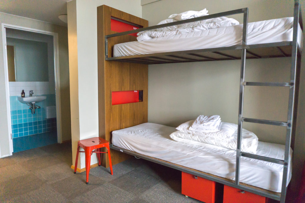 lit dans le dortoir du Loft Hostel Reykjavik Islande
