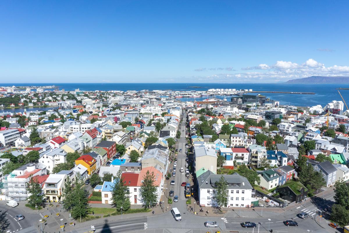 Observatoire de la Hallgrimskirkja de Reykjavik