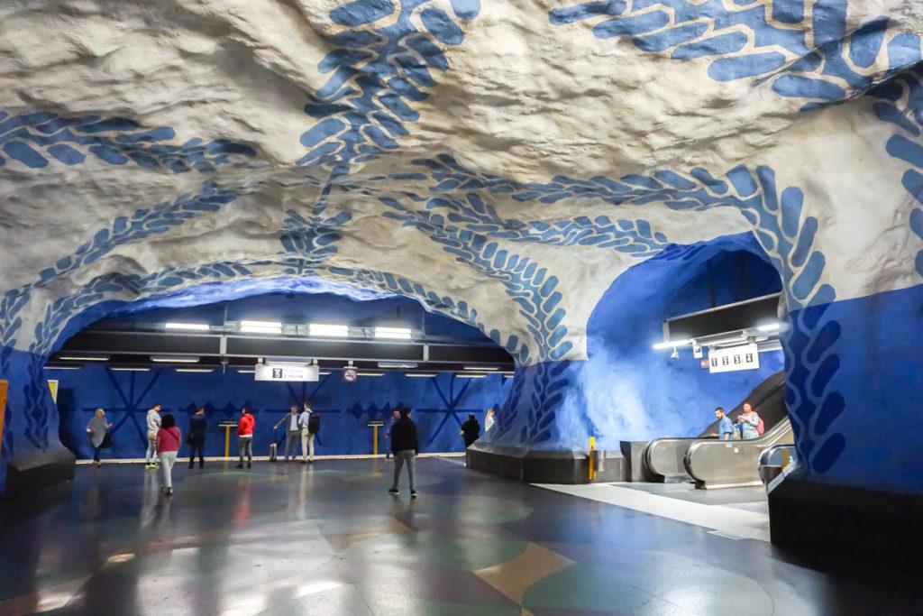 Art dans le métro de Stockholm à T-CentralenArt dans le métro de Stockholm à T-Centralen