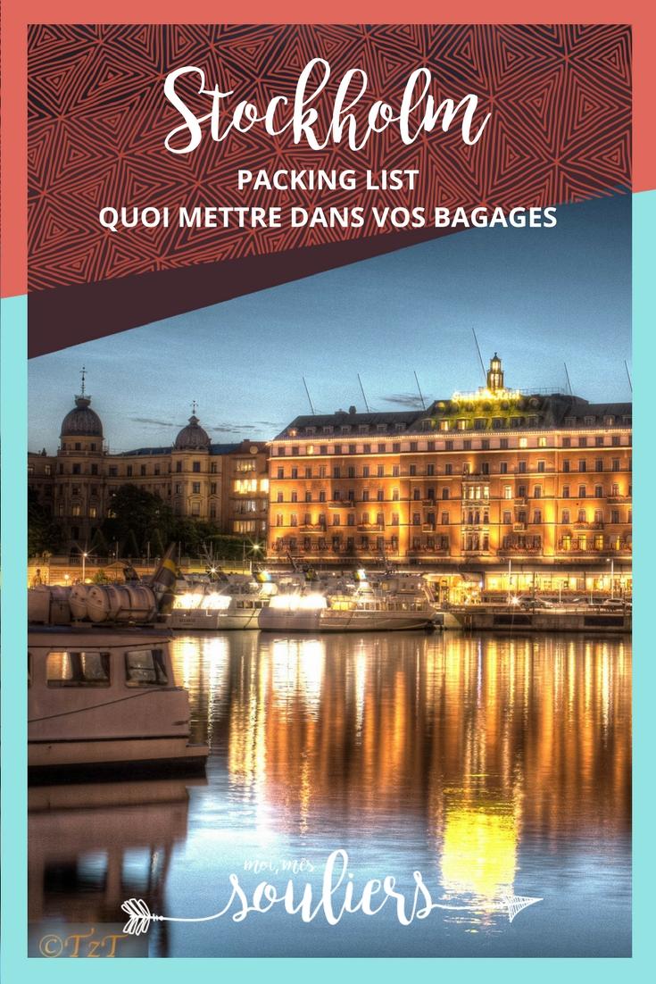 Packing list pour Stockholm Suède