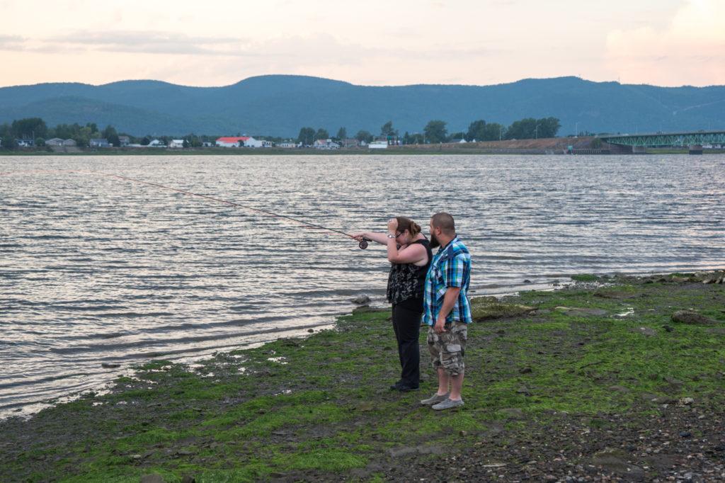 Tentative de pêche à la mouche sur la rivière Restigouche de Campbellton