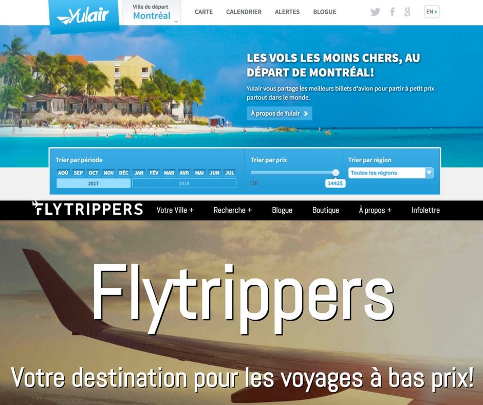 Trouver des billets d'avion pas chers avec Yulair et Flytrippers