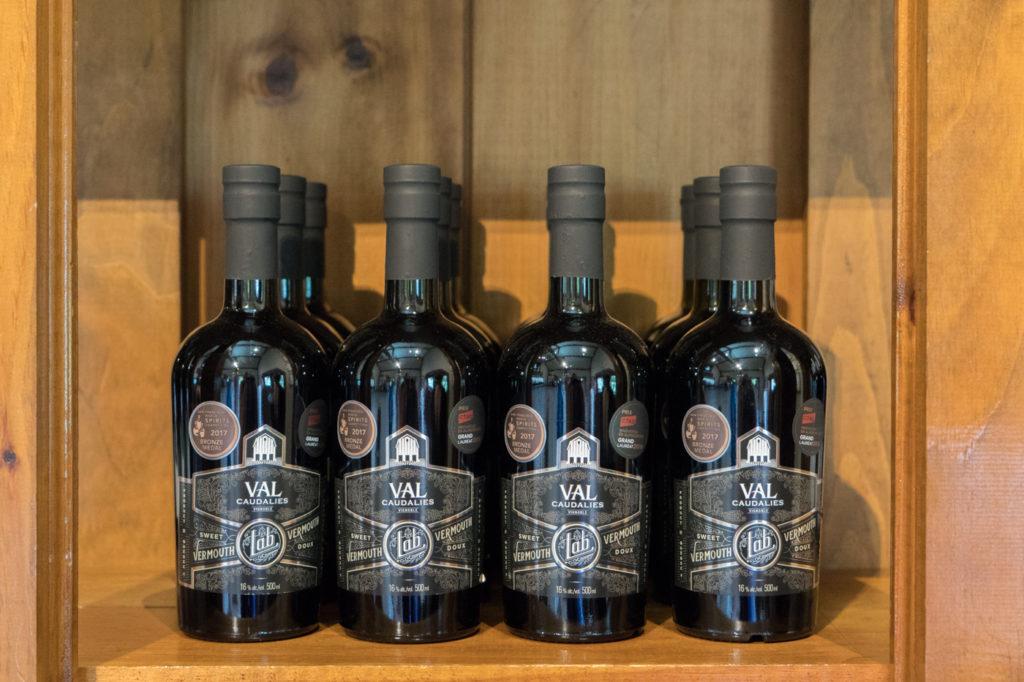 Bouteilles de vermouth de Val Caudalies - Vignoble dans les Cantons-de-l'Est