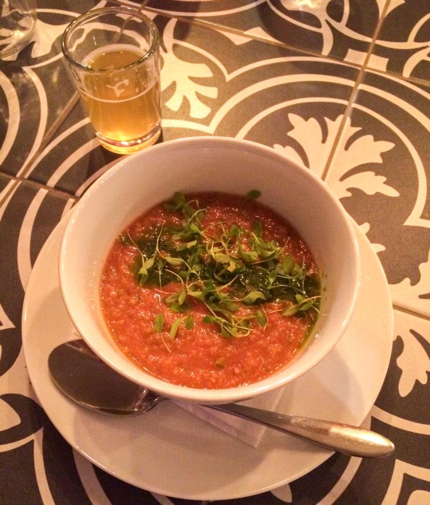 Gaspacho de Sutton Brouerie - Quoi manger dans les Cantons-de-l'Est