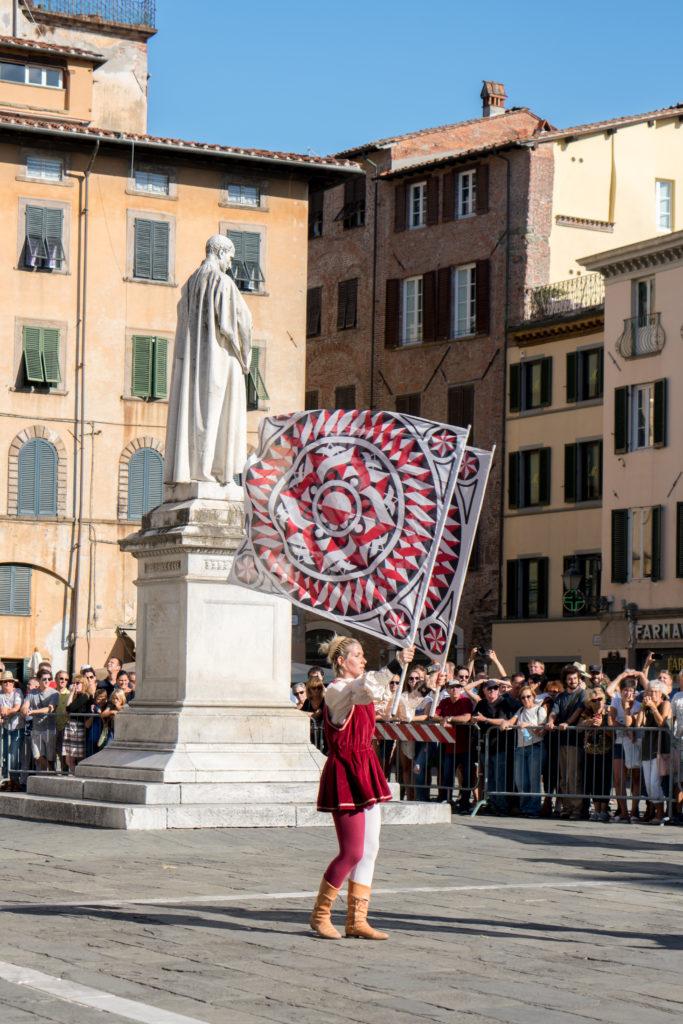 Traditionnel Palio di Lucca en Italie