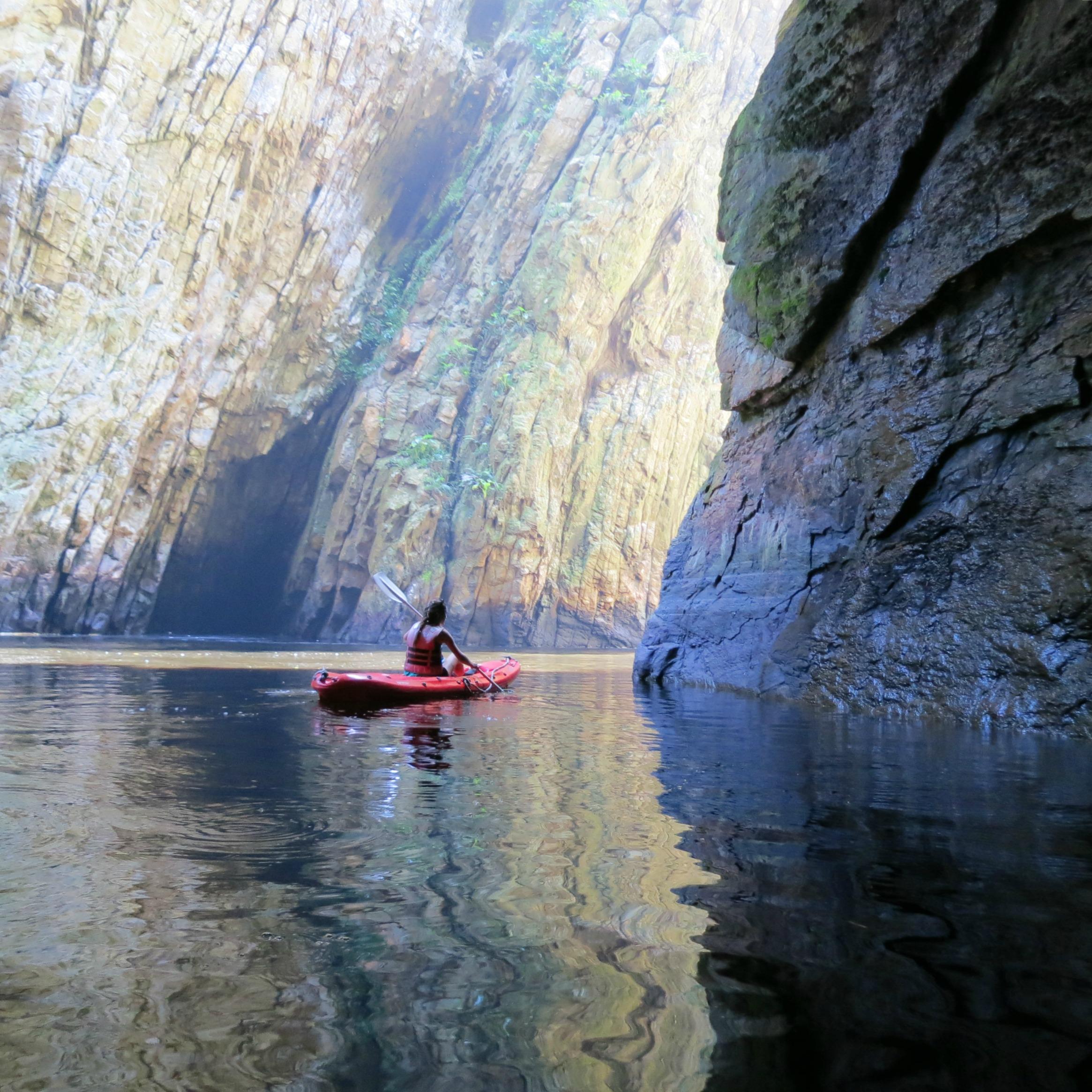 The Path She Took en kayak