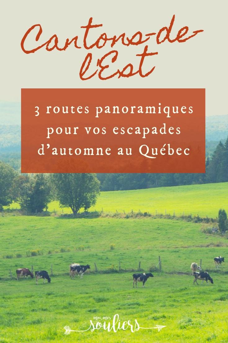 Routes panoramiques du Québec - Cantons-de-l'Est ou Estrie