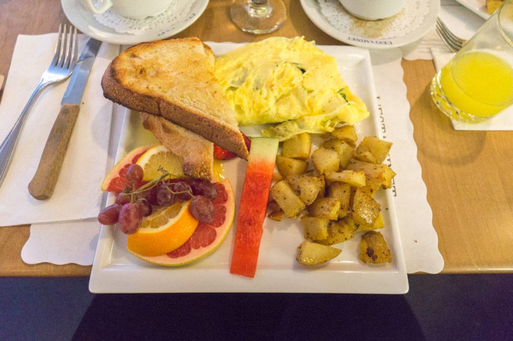 Omelette de mon brunch à Ahuntsic au resto l'Estaminet