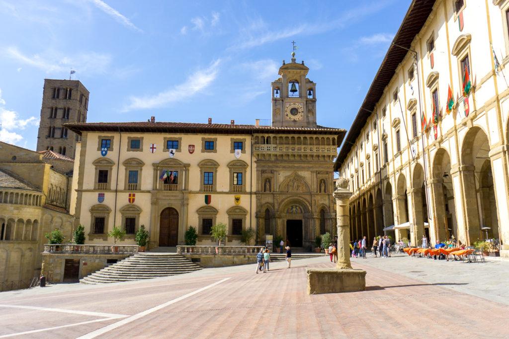 Place principale d'Arezzo - Quoi faire en Toscane